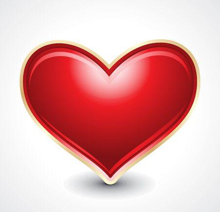 heart month: glossy heart shape illustration Illustration