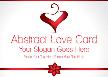 love card: Amor Tarjeta del dise�o vectorial Ilustraci�n