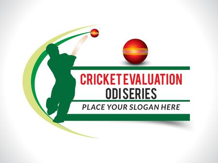 cricket stump: Cricket banner background with bats man vector illustration Illustration