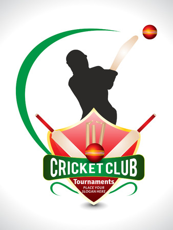 cricket game: Cricket Tournament Text Background Wtih Ball vector illustration