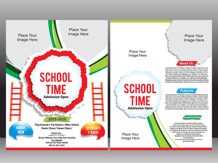 junior: School Admission Flyer Template vector illustration Illustration