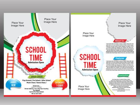 admission: School Admission Flyer Template vector illustration Illustration