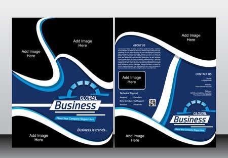 service card: Global Business Flyer & Magaizne Design Template