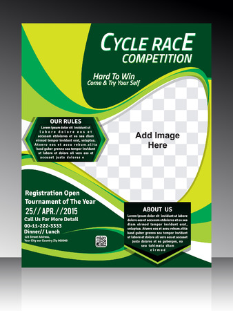 banner background: Cycle race Flyer template design vector illustration