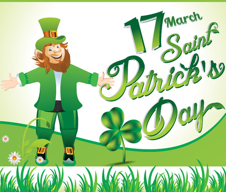 happy st patrickss day background vector illustration
