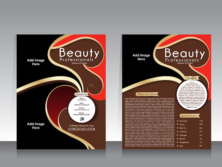 beauty parlor: beauty parlor flyer template illustration