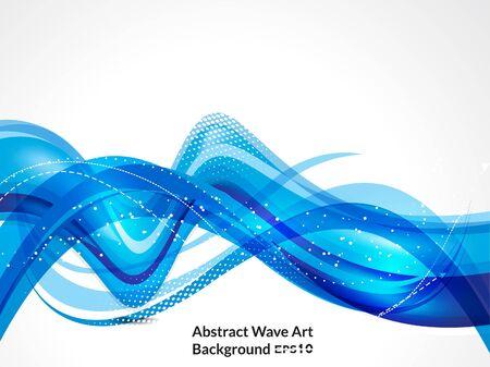 illustraion: abstract blue wave background vector illustraion Illustration