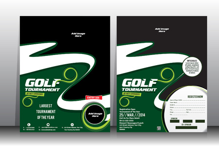 golf tournament flyer brochure template royalty free cliparts
