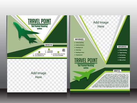 invitation barcode: travel flyer & brochure vector design vector illustration