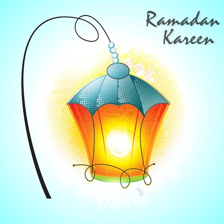 ramadan lamp background vector illustration