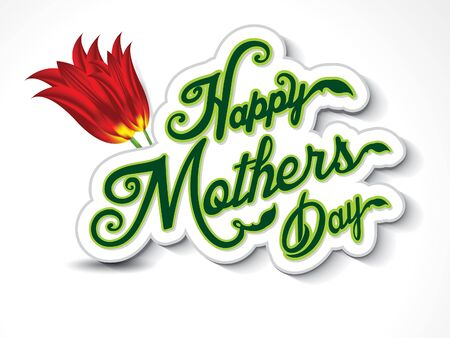 post scripts: happy mothers day background with flower vector illustration