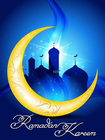 ramadan background: ramadan background  with mosk vector illustration