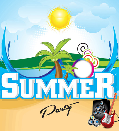 discoteque: abstract summer background vector illustration Illustration