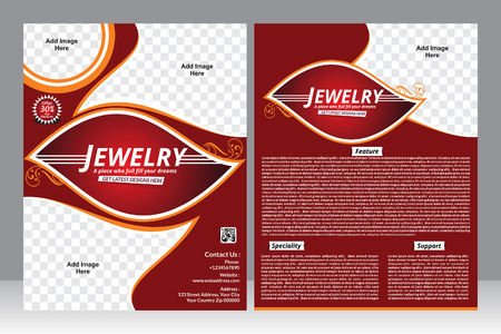 jewelry design: jewelry design flyer design template vector illustration