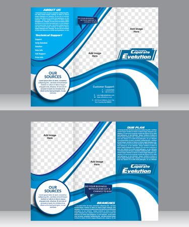 flayer: Tri Fold Corporate Brochure Template vector  illustration