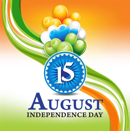 asoka: 15 august independence day background vector illustrtion