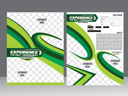 Golf Tournament Flyer Template Design Vector Illustration Royalty