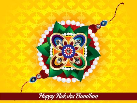 raksha: felice Bandhan Raksha illustrazione vettoriale