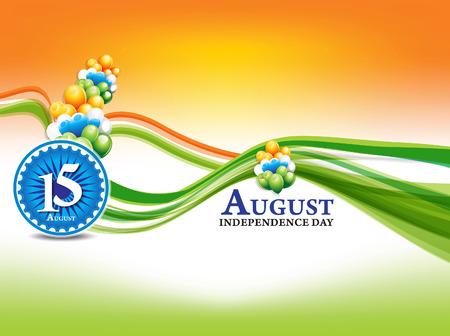 bandera de la india: fondo indio d�a de la independencia con la onda