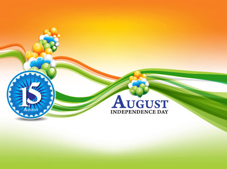 national freedom day: indian independence day background with wave