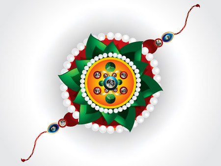raksha: abstract raksha bandhan background with rakhi