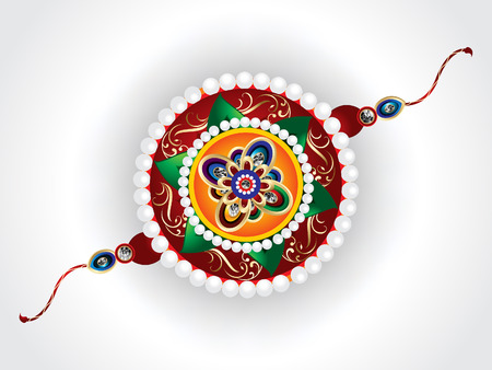 sisters: abstract raksha bandhan vector rakhi vector illustration