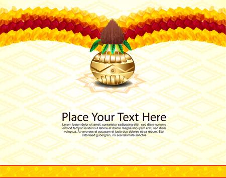 pot leaf: Indian Celebration Bakcground With Flower vector illustration