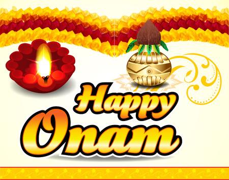pookolam: happy onam celebration background with floral vector illustration