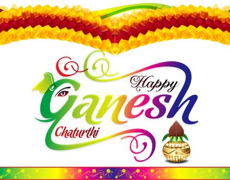 ganesh: happy ganesh chaturthi celebration background vector illustration