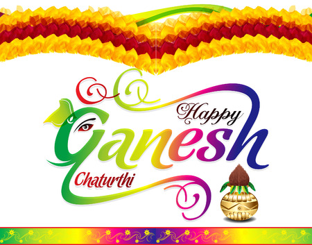 multy: happy ganesh chaturthi celebration background vector illustration