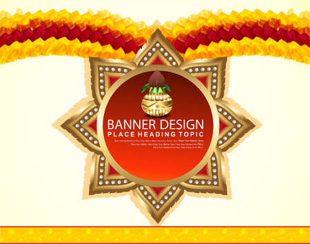 celebration background: indian celebration Background banner vector illustration