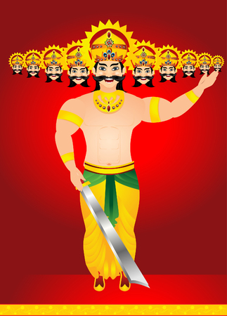 ramayan: happy vijay dashmi background with king Ravan