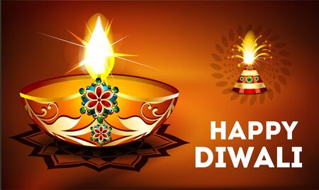 divinity: happy diwali celebration background Illustration