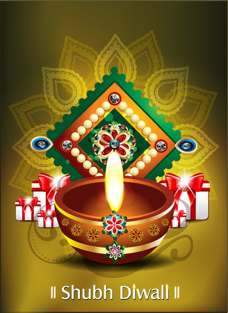 vivah: happy diwali background with gifts