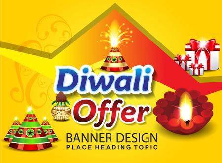 lantern festival: happy diwali sale background vector illustration