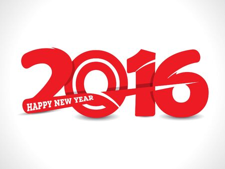 new years resolution: happy new 2016 text background template vector illustration