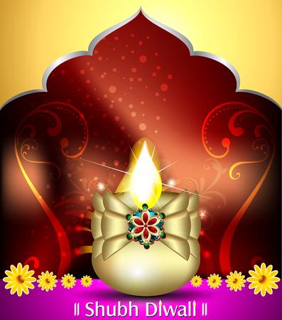 deepak: happy diwali celebration background with deepak vector illustration