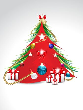 decorated christmas tree: decorated christmas tree  background illustration Illustration
