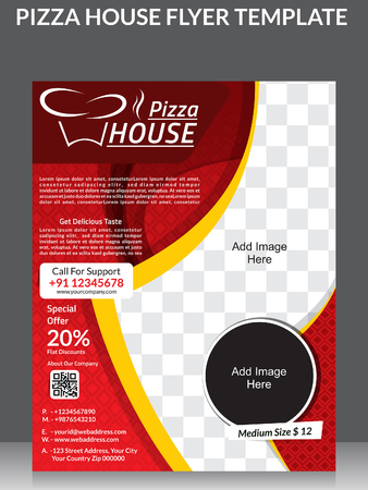 rollover: Piazza house and magazine design template illustration