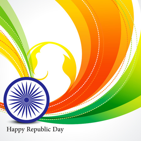 asoka: happy republic day wave background