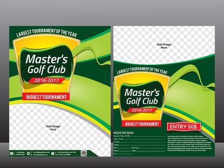 tournament: golf design & magazine cover vector illustration Illustration