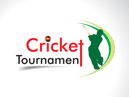 wicket: cricket tournament banner background illustration Illustration