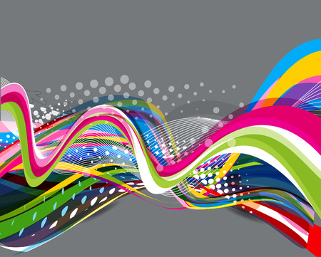 abstract colorul wave background vector illustration