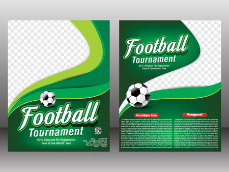 football tournament magazine template llustration