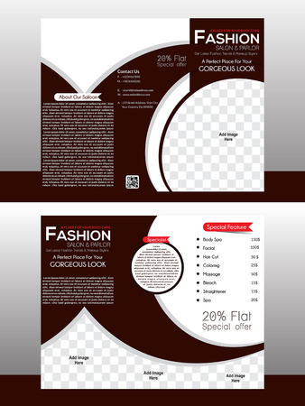 fashion design: tri fold fashion brochure template design illustration