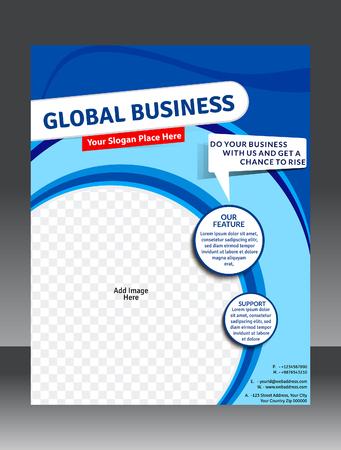 global Business template design illustration Stock Illustratie