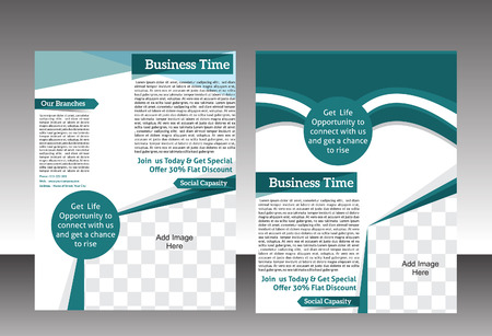 shaddow: abstract business flyer template design vector illustration