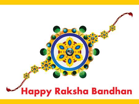raksha: happy Raksha Bandhan Background vector illustration
