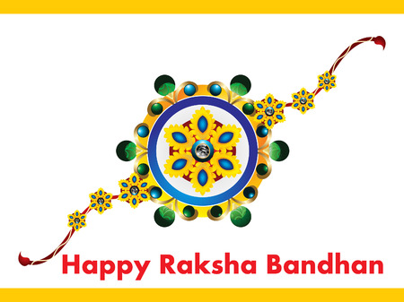 happy Raksha Bandhan Background vector illustration