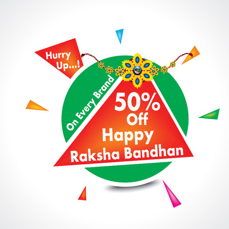 happy raksha bandhan sale background vector illustration